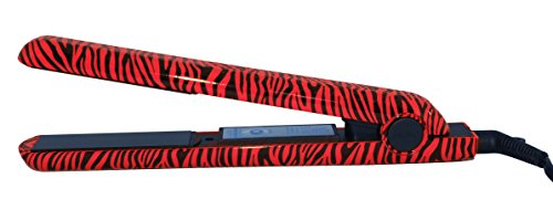 RoyalCraft TM Hair Straightener Iron Red  Black Zebra