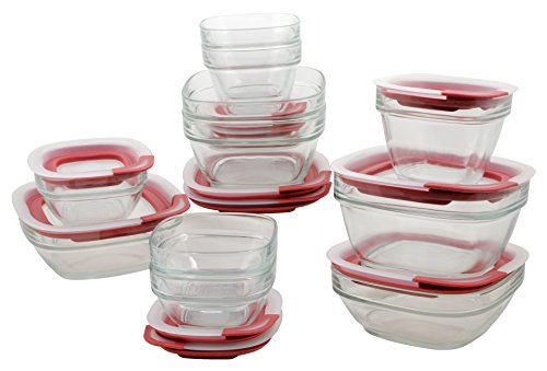 $29.98 Rubbermaid Easy Find Lid Glass Food Storage Container, 22-Piece