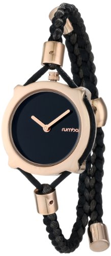 $60.00 RumbaTime Women\'s Gramercy Lights Out Analog Display Japanese Quartz