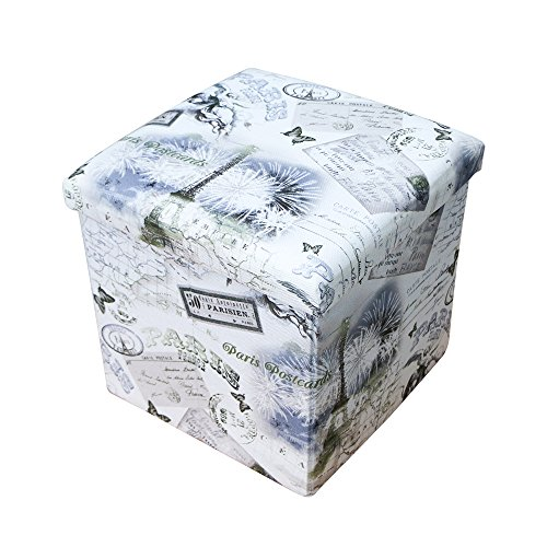 Rusee Collapsible 15'' Cube Fabric Folding Square Storage Ottoman