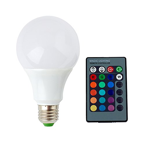 SUPERNIGHT E27/E26 9W RGB LED Light Bulb 16 Colors