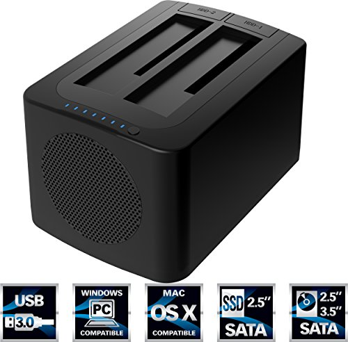 Sabrent USB 3.0 to SATA Dual Bay External Hard
