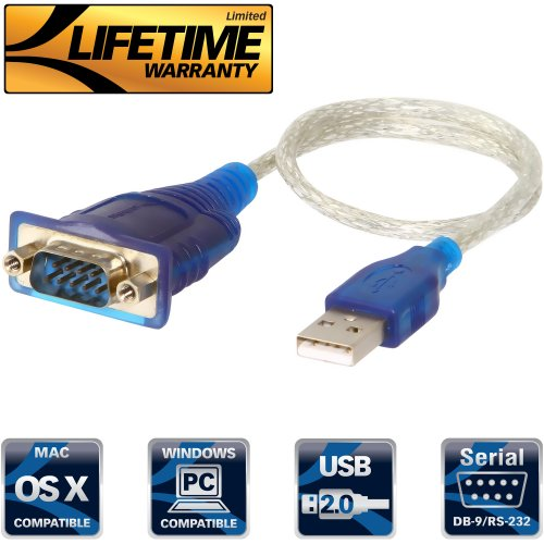 Sabrent USB 2.0 to Serial (9-Pin) DB-9 RS-232 Converter