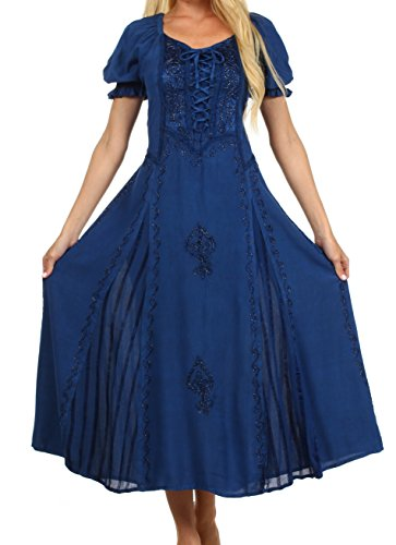 $49.99 Sakkas 2100 - Sakkas Bridget Embroidered Renaissance Dress -
