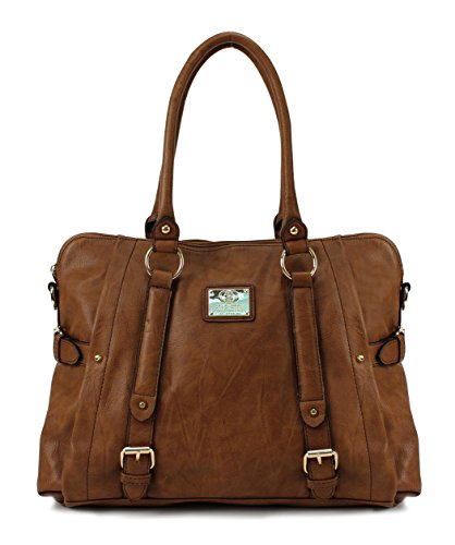$29.99 Scarleton Medium Belt Accent Tote Bag H126404 – Brown