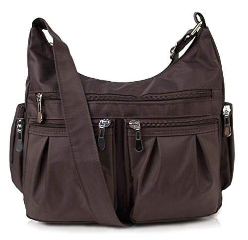Scarleton Multi Pocket Shoulder Bag H140721 – Coffee