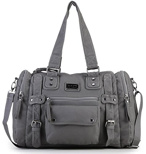 $35.99 Scarleton Soft Barrel Shoulder Bag H148524 - Ash