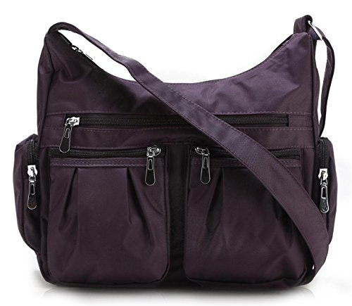 Scarleton Multi Pocket Shoulder Bag H140716 – Purple
