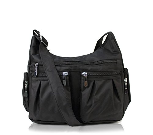 Scarleton Multi Pocket Shoulder Bag H140701 - Black