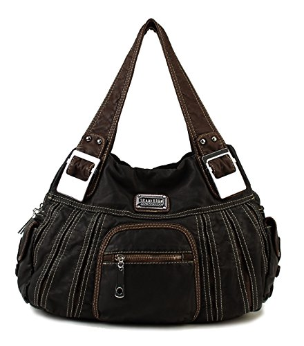 $29.99 Scarleton Large Shoulder Bag H106601 - Black