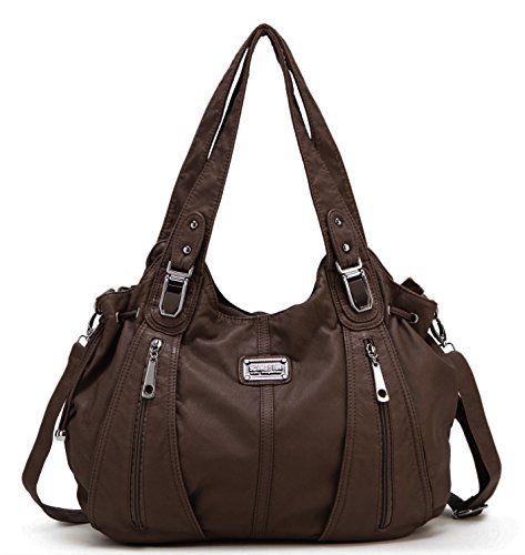 $29.99 Scarleton Center Zip Shoulder Bag H147421 - Coffee