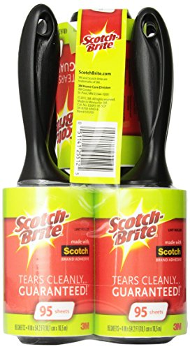 Scotch-Brite Lint Roller, 95 Sheets, 5 Count