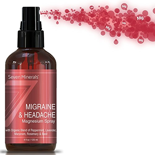 Migraine  Headache Pain Relief Magnesium Essential Oil Spray