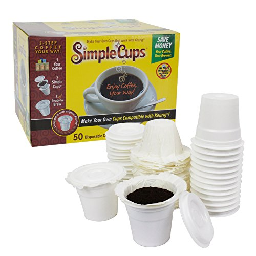 Disposable Cups for Use in Keurig Brewers - Simple