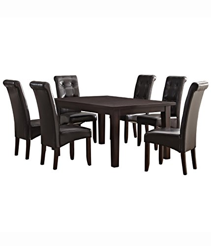$943.61 Simpli Home 7 Piece Cosmopolitan Dining Set, Tanners Brown