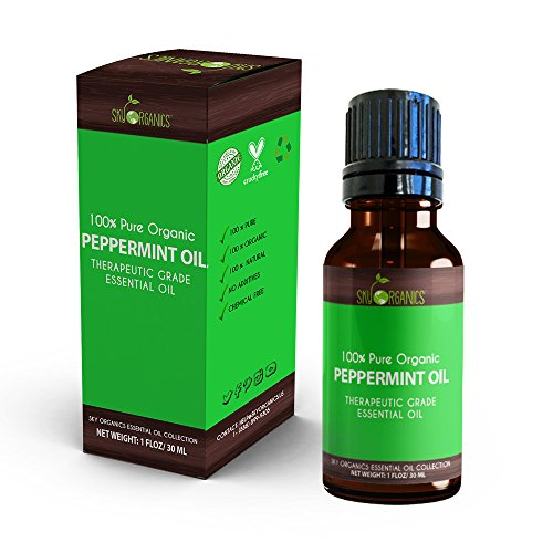 Best Peppermint Essential Oil By Sky Organics-100% Organic, Pure
