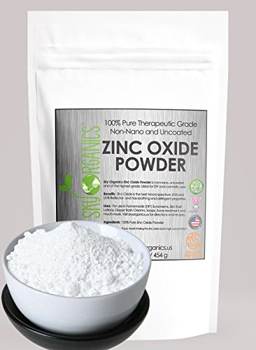 Zinc Oxide Powder By Sky Organics 16oz- Uncoated