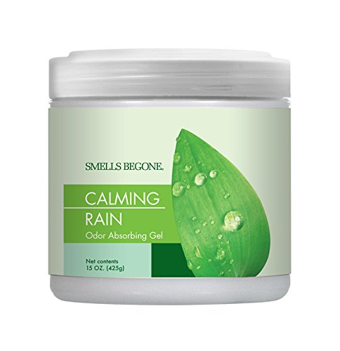 SMELLS BEGONE Odor Absorbing Gel, Calming Rain 15 OZ