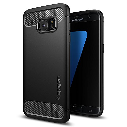 $12.99 Galaxy S7 Edge Case, Spigen® [Rugged Armor] Resilient [Black]