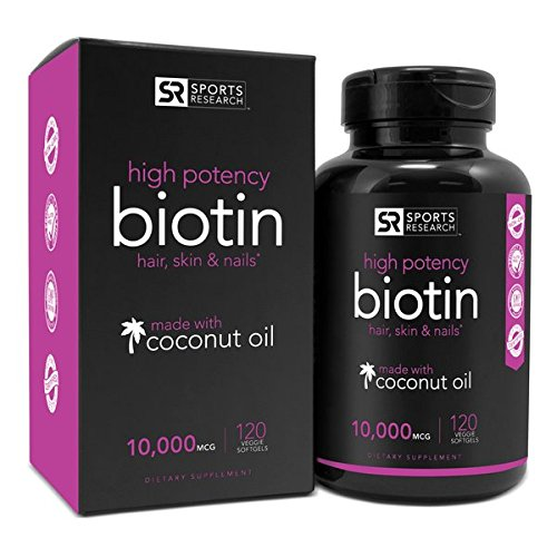 Biotin 10,000mcg in Cold-Pressed Organic Coconut – Non-GMO