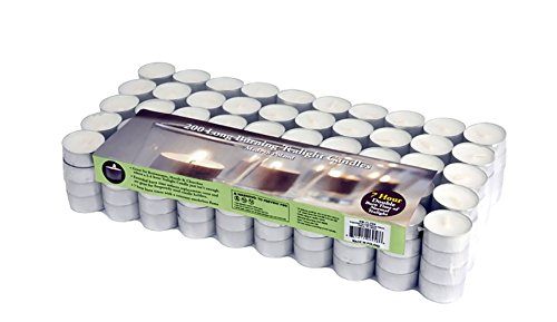 Stonebriar Paraffin Tealight Candles with 6 to 7-Hour Burn