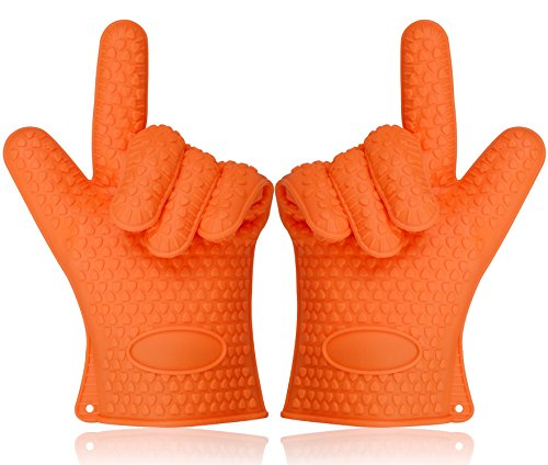Sundix(TM) Heat Resistant Oven Mitts Five Fingers Non-slip and