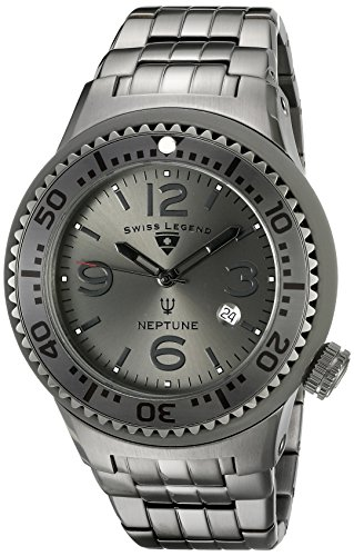 $79.99 Swiss Legend Men's 21848P-GM-104-GRYA Neptune Force Analog Display Swiss