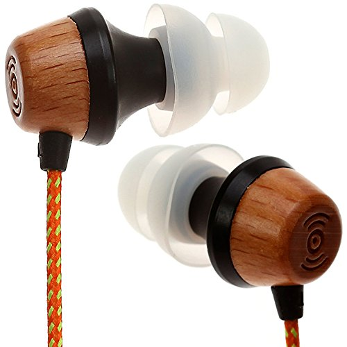 $25.00 Symphonized ALN Premium Genuine Wood In-ear Noise-isolating Headphones with