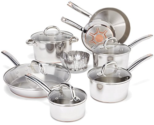T-fal C836SD Ultimate Stainless Steel Copper-Bottom Heavy Gauge Multi-Layer