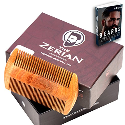 Beard Comb -Fine  Coarse Tooth - Handmade Genuine
