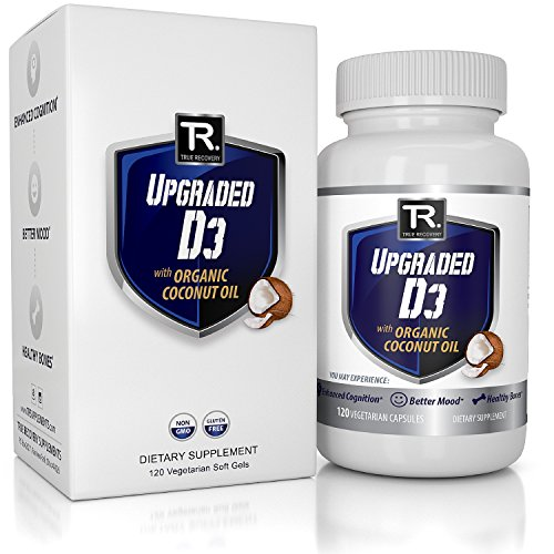 Upgraded Vitamin D3 2000 IU W/Organic Coconut Oil –
