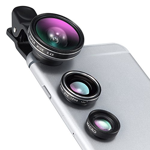 iPhone Lens, TaoTronics Phone Camera Lens Clip Kit for