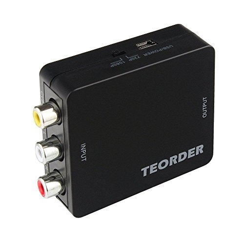 Teorder RCA Composite AV CVBS to HDMI Audio Video