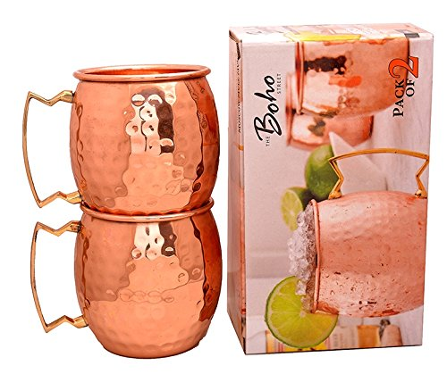 The Boho Street Moscow Mule Handcrafted 100% Pure Copper