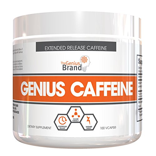 Genius Caffeine – Extended Release Microencapsulated Caffeine, All-Natural Non-Crash