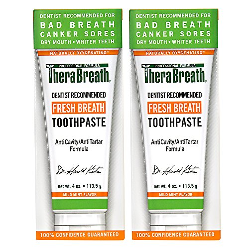 TheraBreath Dentist Recommended Fresh Breath Dry Mouth Toothpaste, Mild