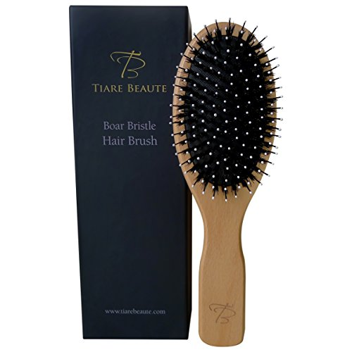 Tiare Beaute Boar Bristle Hair Brush With Easy To