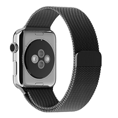 Apple Watch Band, Tirnga® Milanese Loop Mesh Smooth Stainless