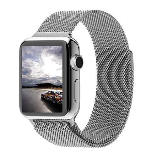 Apple Watch Band, Milanese Loop Mesh Smooth Stainless Steel