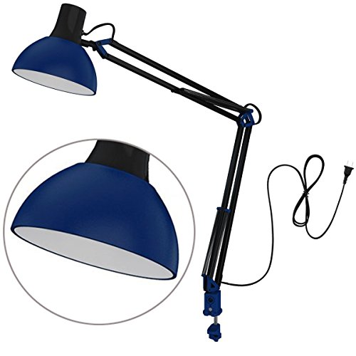 ToJane Swing Arm Desk Lamp with Clamp,Architect Metal Bedroom