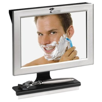 Fogless Shower Mirror with Squeegee by ToiletTree Products. Guaranteed