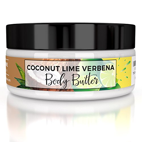 Moisturizing Body Butter Cream, 8 ounces, Coconut Lime Verbena