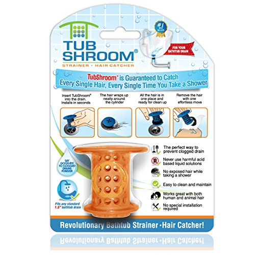 TubShroom The Revolutionary Tub Drain Protector, Orange