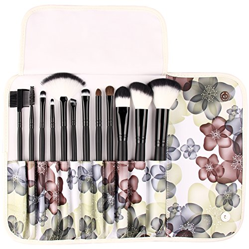 UNIMEIX 12PCS Makeup Brushs with Comestics Bag Eyeshadow Foundation