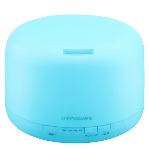 URPOWER 500ml Aromatherapy Essential Oil Diffuser Humidifier with 4