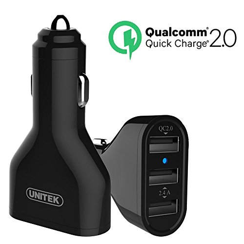 [Qualcomm Certified] UNITEK Quick Charge 2.0 42W 3-Port USB
