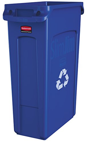 Rubbermaid Commercial Slim Jim Recycling Container with Venting Channels