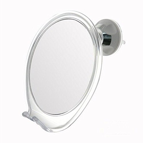 2x Magnifying No Fog Shower Mirror with Rotating Suction
