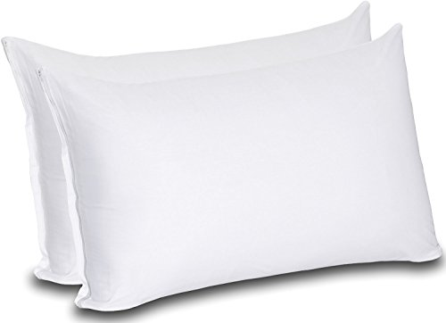 Cotton Zippered Pillow Cases (King, White) – 20 by