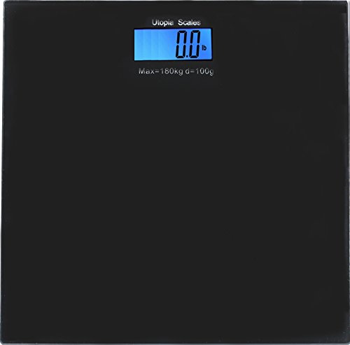 Digital Glass Bathroom Scale Black - Holds up to